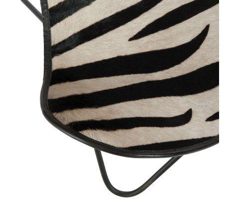 Fauteuil papillon motifs zébrés en cuir MURPHY