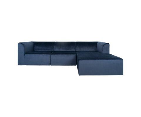 canapé d'angle droit en velours design-IRLANDE