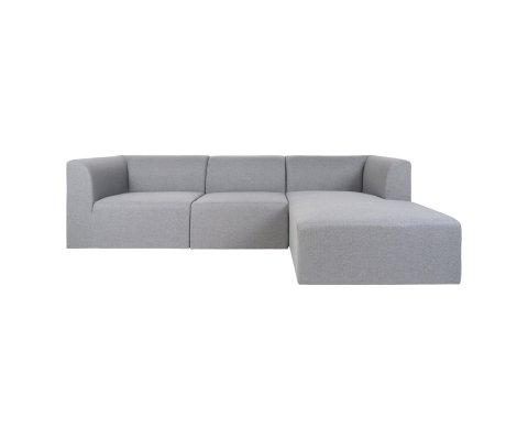 canapé d'angle droit en tissu grisIRLANDE