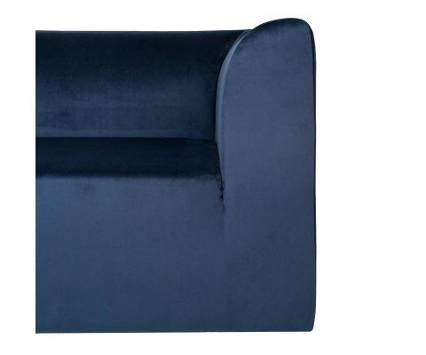 canapé d'angle gauche velours bleu IRLANDE