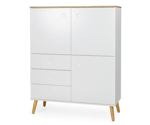 Buffet haut 3 portes 3 tiroirs style scandinave ZINO