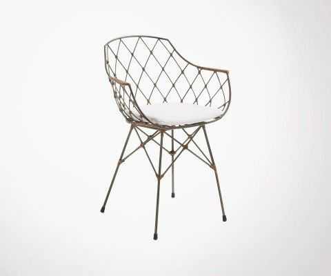 NERGY metal and rattan armchair
