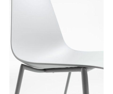 Chaise métal noir coque plastique VANINA