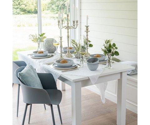 Table rectangulaire en bois blanc avec tiroir TRUDI