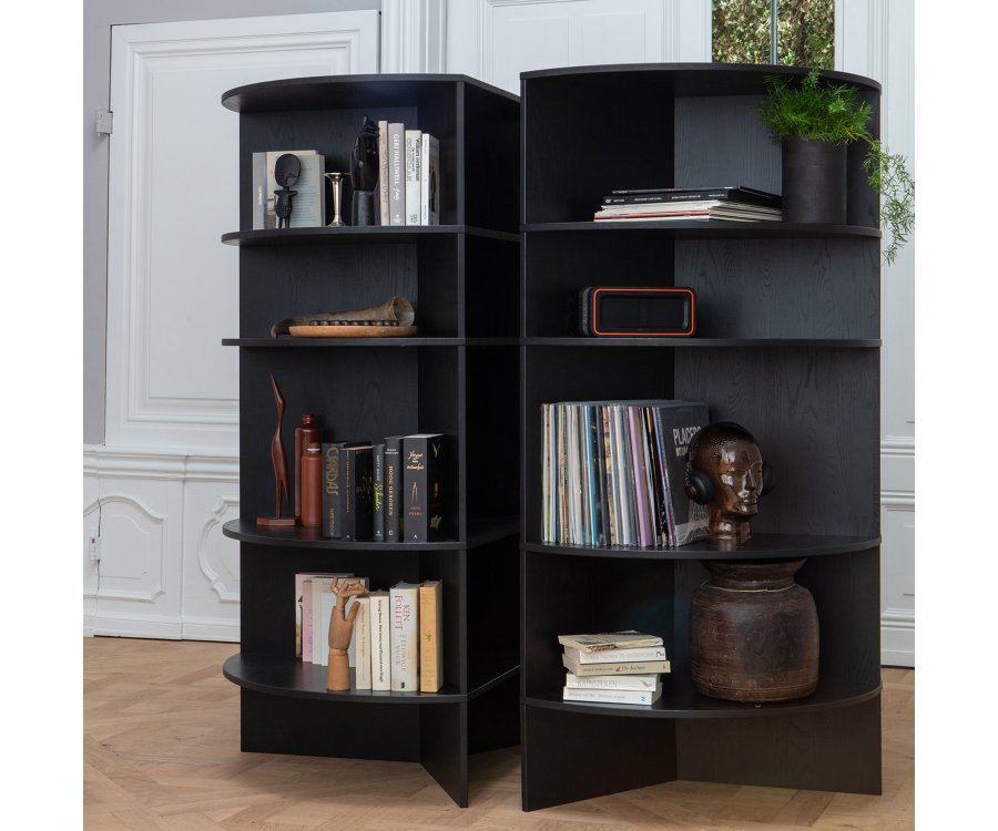 Bibliothèque design pour coin MAXELL - Woood