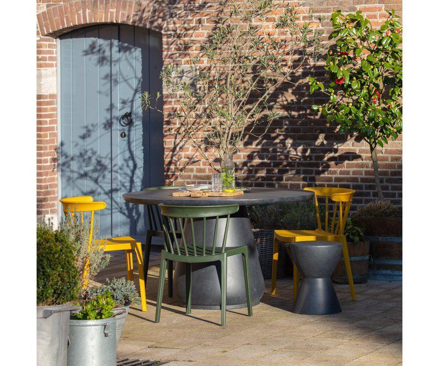 Set 2 tabourets de jardin design DOVER