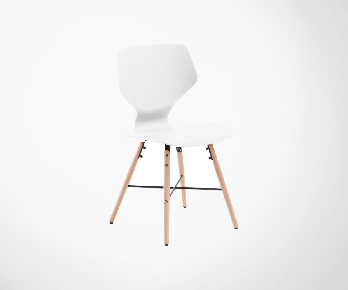 Chaise design scandinave pieds bois pas ch re exclusivit for Chaise plastique bois