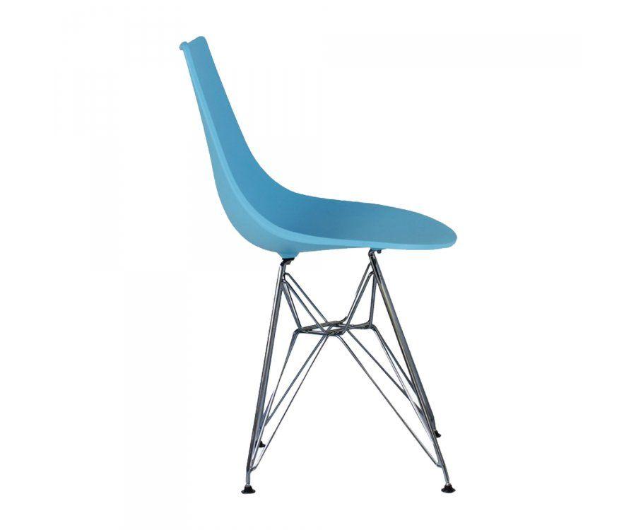 Chaise design LYA style Scandinave pied métal eiffel