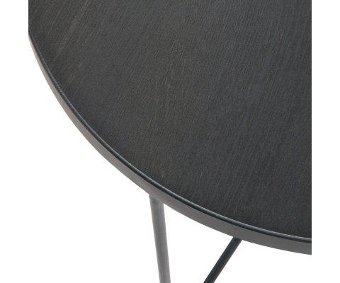 Petite table basse ronde 50,5cm en bois et métal COFFI