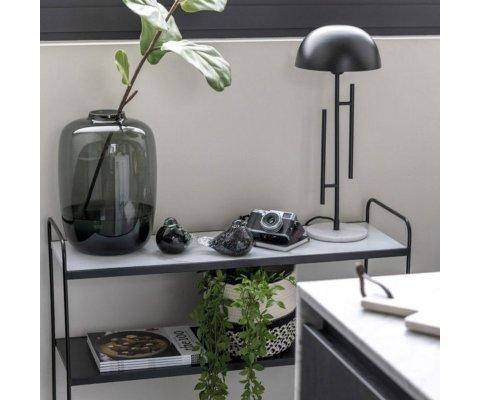 Lampe de bureau design en métal et marbre ZARY