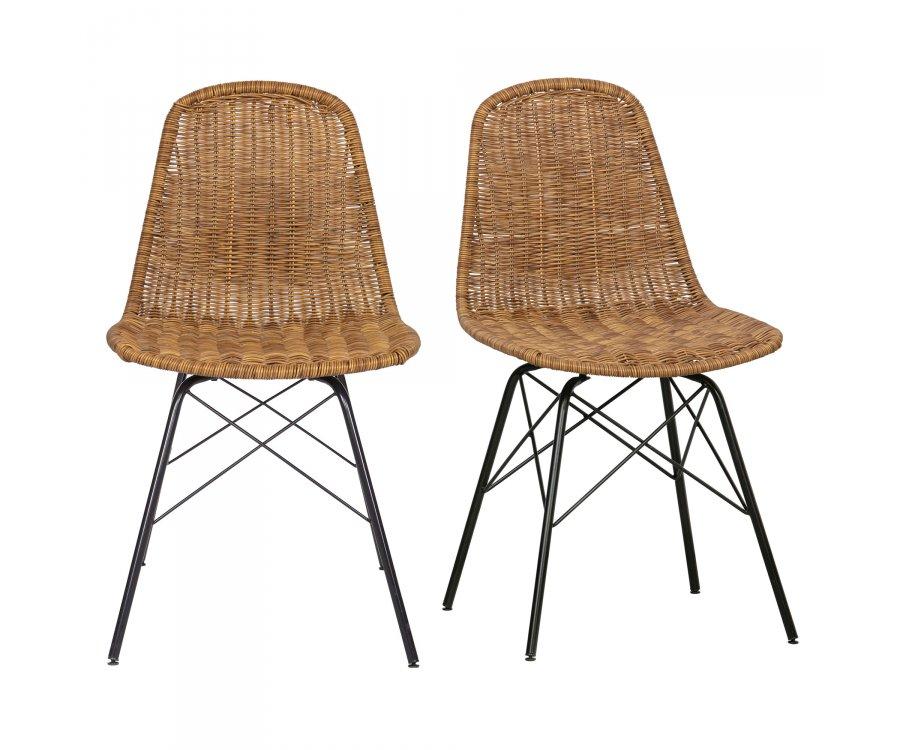 Chaise en rotin tendance-BOBI