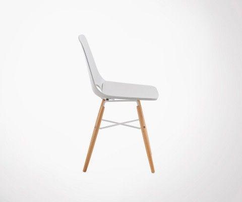 Chaise gris clair design scandinave KANU