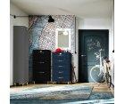 Commode vintage 5 tiroirs en bois MALIBU
