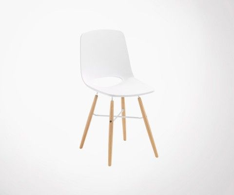 Scandinave white seat design dining chair KANU
