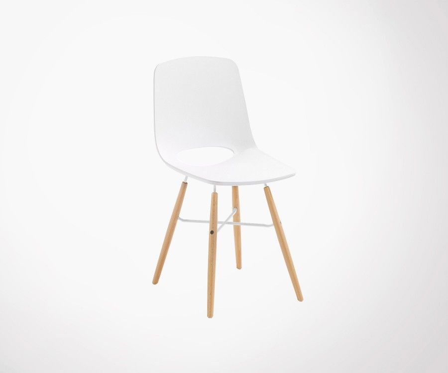 Chaise blanche design scandinave for Chaise blanches