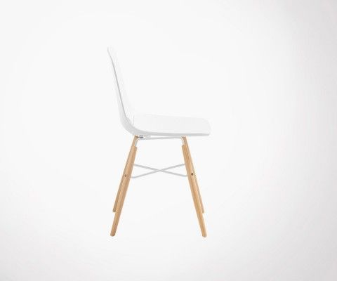 Chaise blanche design scandinave KANU