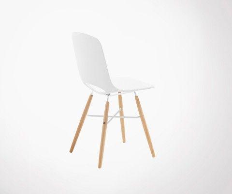 Chaise blanche design scandinave KANU