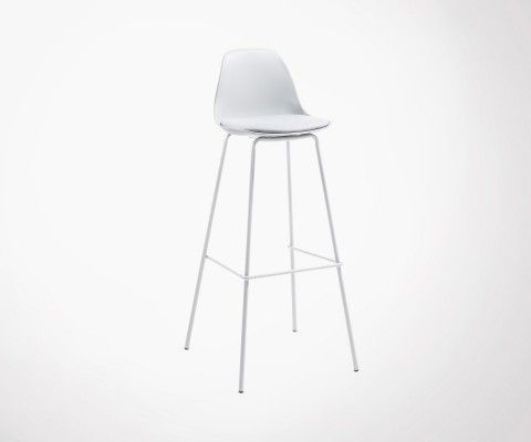 NASALY light grey design dining barstool