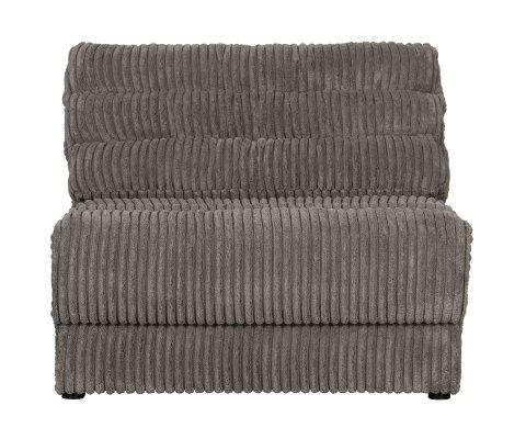 Petit fauteuil en tissu à grosses côtes vintage NAHO