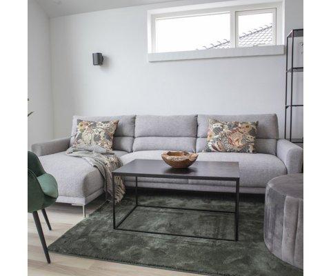 Canapé d'angle gauche en tissu gris COLIAS