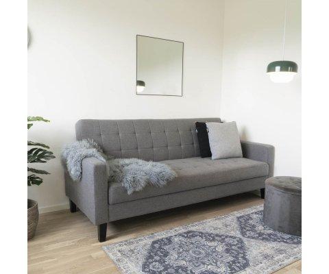 Fauteuil lounge scandinave tissu-SHAKI