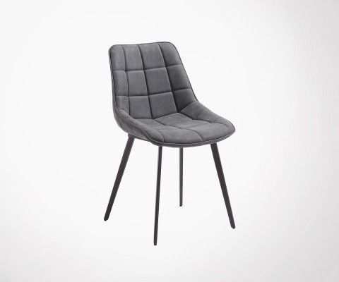 AGDA Metal Feet And Padded Seat Design Dining Chair