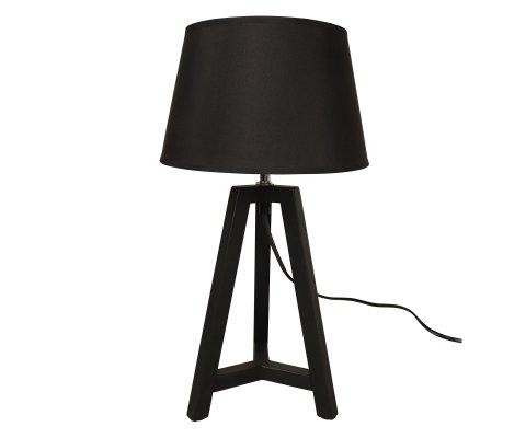 Lampe de table abat-jour noir NICO