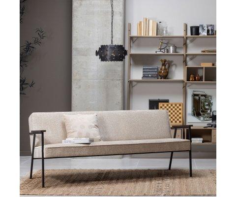 Petit canapé intemporel en velours texturé -BOOBA