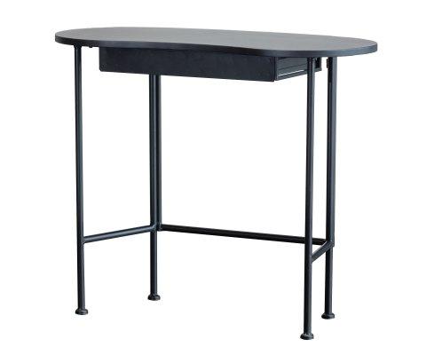 Bureau moderne en bois et métal noir SOPHIO