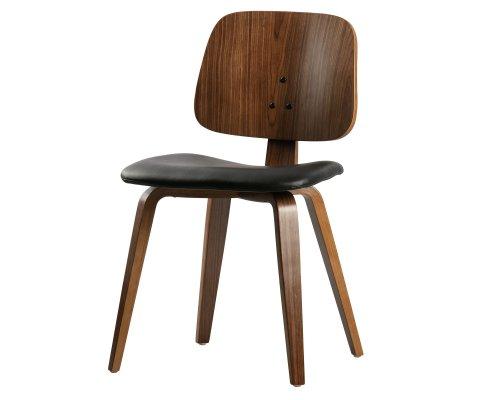 Chaise classique avec siège en cuir MICHAELA