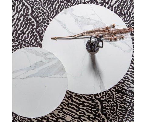 Petite table basse ronde 60cm aspect marbre VIDA