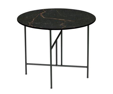 Petite table d'appoint ronde 60cm aspect marbre VIDA