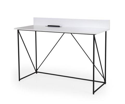 Bureau design en bois et métal noir 120cm CORSA