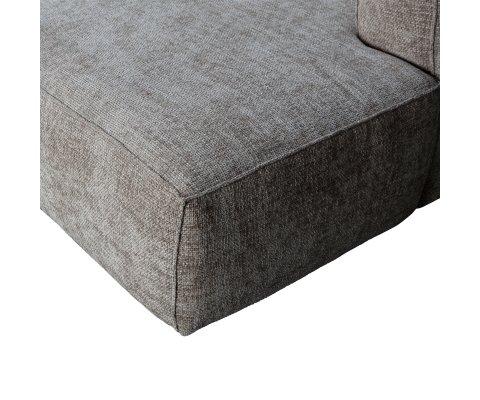 Canapé d'angle droit en tissu BEAN