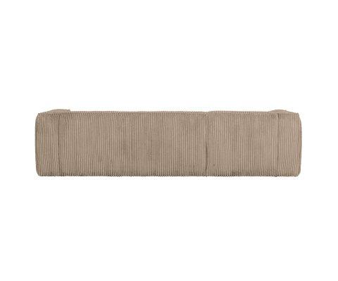 Canapé d'angle gauche en tissu à grosses côtes BEAN