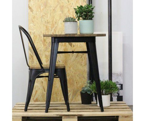 Petite table à manger 60cm style industriel TUCKER