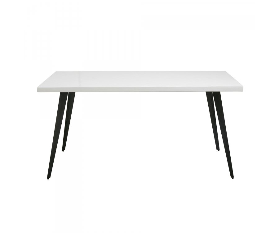 Table à manger rectangulaire 160cm bois massif DRESDO - Nordal