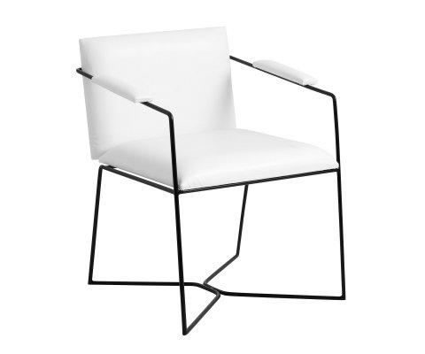 Chaise éco cuir look minimaliste ZES