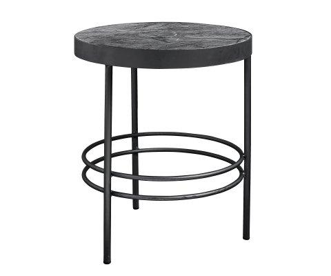 Table ronde d'appoint marbre noir 50cm MIDNIGHT