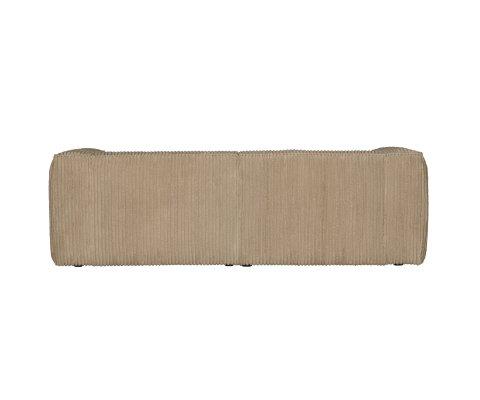Canapé 3,5 places en tissu à grosses côtes BEAN