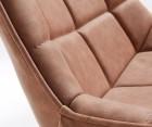 Chaise métal assise rembourrée capitonée gris foncé AGDA