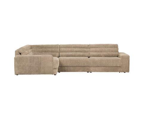 Canapé d'angle gauche en velours côtelé ROCK