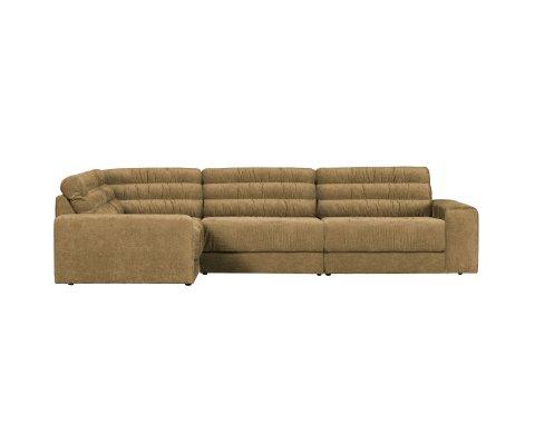 Canapé d'angle gauche en tissu ROCK