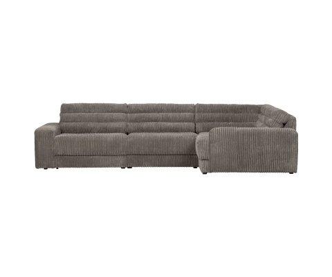 Canapé d'angle droit en velours côtolé ROCK