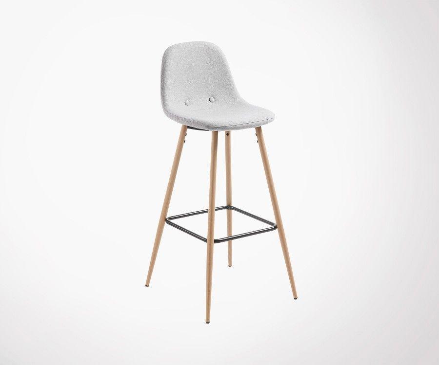 Chaise de bar assise tissu NELLY