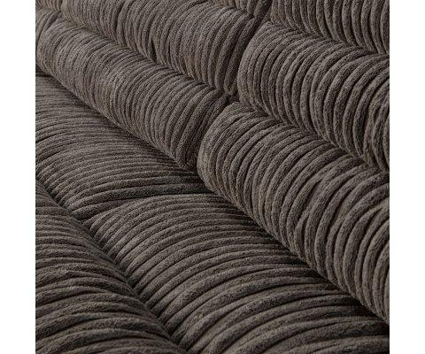 Canapé Design avec tissu côtelé-EMELINE