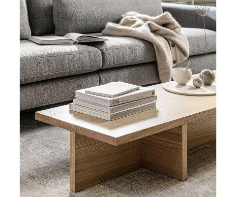 Table basse contemporaine en bois REM