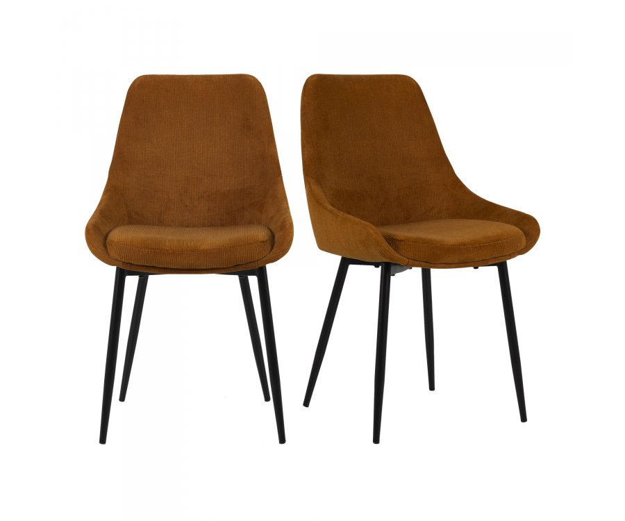 Lot de 2 chaises velours- ZAIPO