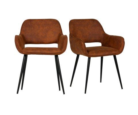 2 chaises design rembourrées simili JELL