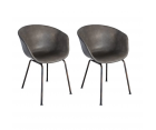Lot 2 chaises design SHELBY